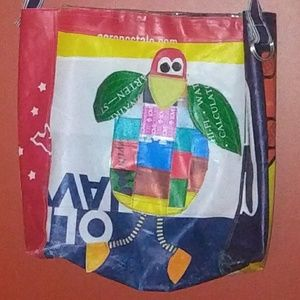 Handbags - Recycled Handcrafted GAP Shopper! Reuse! Unique!